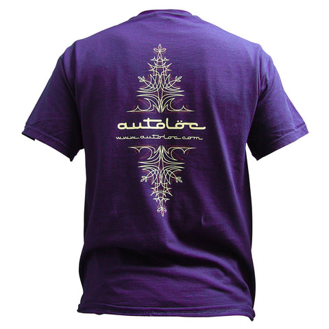 AutoLoc Medium Purple Short Sleeve Pinstripe T Shirt STYLE 1 - AutoLoc - Dropship Direct Wholesale - 2