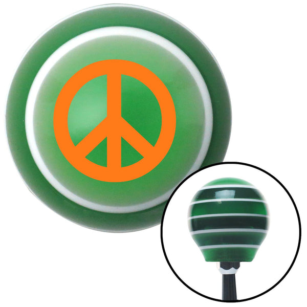 Orange Peace Sign Green Stripe Shift Knob with M16 x 15 Insert - American Shifter - Dropship Direct Wholesale