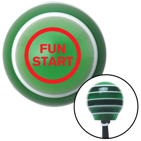 Red Fun Start Green Stripe Shift Knob with M16 x 15 Insert - American Shifter - Dropship Direct Wholesale