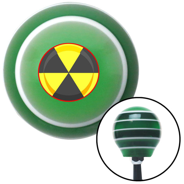 Nuke This Green Stripe Shift Knob with M16 x 15 Insert - American Shifter - Dropship Direct Wholesale