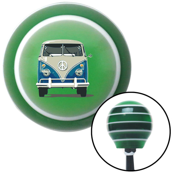 Classic VW Green Stripe Shift Knob with M16 x 15 Insert - American Shifter - Dropship Direct Wholesale