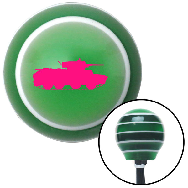 Pink Military Tank Green Stripe Shift Knob with M16 x 15 Insert - American Shifter - Dropship Direct Wholesale