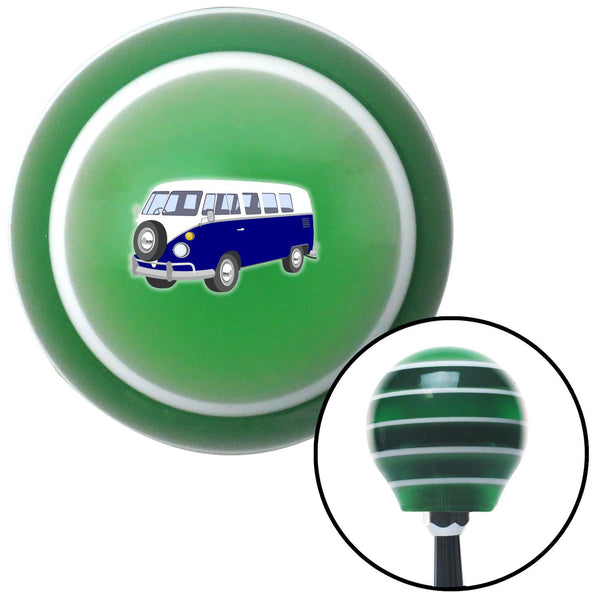 Blue Camper Green Stripe Shift Knob with M16 x 15 Insert - American Shifter - Dropship Direct Wholesale