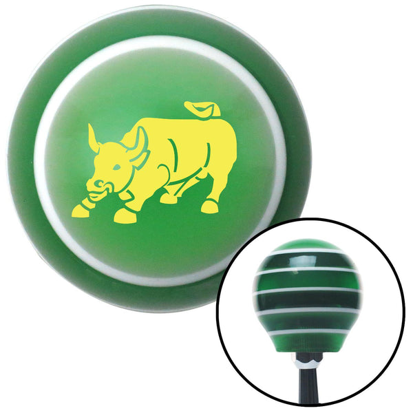 Yellow Bull Green Stripe Shift Knob with M16 x 15 Insert - American Shifter - Dropship Direct Wholesale