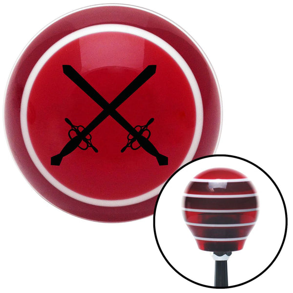 Black Swords Red Stripe Shift Knob with M16 x 15 Insert - American Shifter - Dropship Direct Wholesale