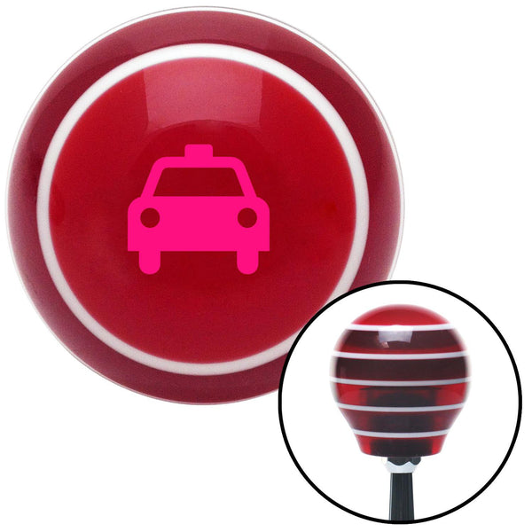 Pink Taxi Red Stripe Shift Knob with M16 x 15 Insert - American Shifter - Dropship Direct Wholesale