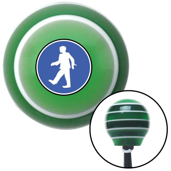 Man Walking Green Stripe Shift Knob with M16 x 15 Insert - American Shifter - Dropship Direct Wholesale