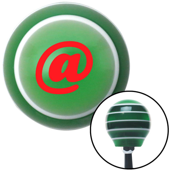 Red  Symbol Green Stripe Shift Knob with M16 x 15 Insert - American Shifter - Dropship Direct Wholesale