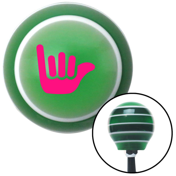 Pink Hang Ten Green Stripe Shift Knob with M16 x 15 Insert - American Shifter - Dropship Direct Wholesale
