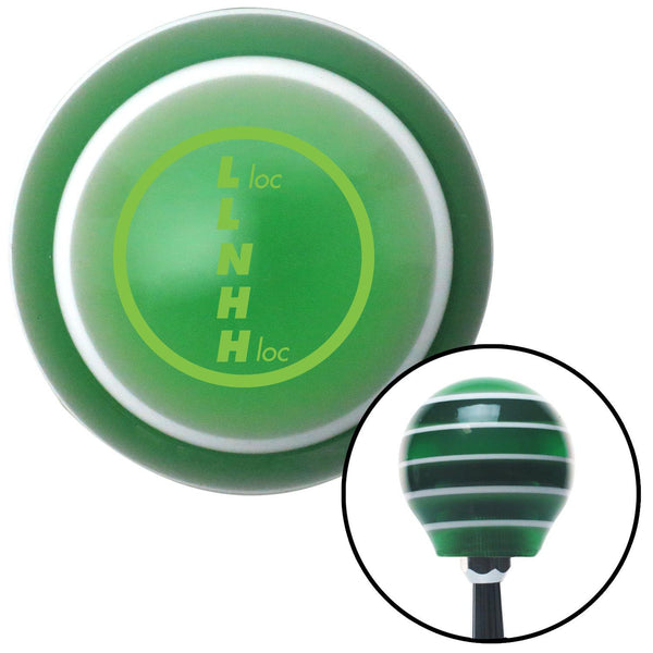 Green Transfer Case 1 Green Stripe Shift Knob with M16 x 15 Insert - American Shifter - Dropship Direct Wholesale