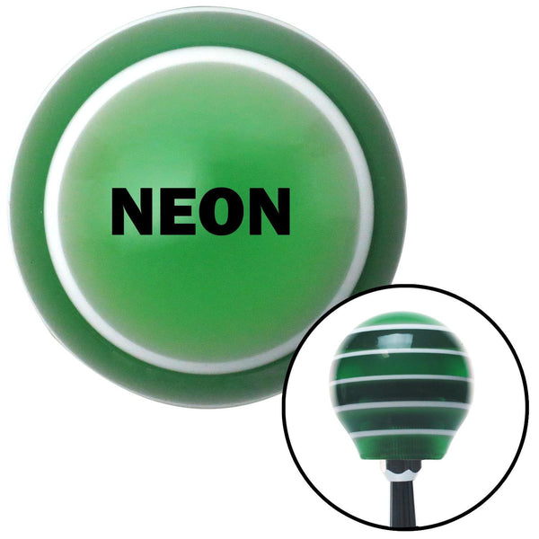 Black NEON Green Stripe Shift Knob with M16 x 15 Insert - American Shifter - Dropship Direct Wholesale
