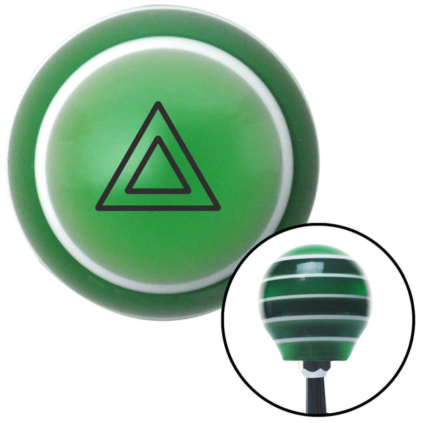 Orange Automotive Emergency Indicator Green Stripe Shift Knob with M16 x 15 Insert - American Shifter - Dropship Direct Wholesale