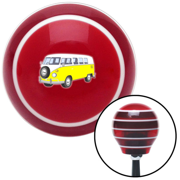 Yellow Camper Red Stripe Shift Knob with M16 x 15 Insert - American Shifter - Dropship Direct Wholesale