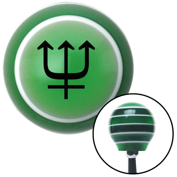 Black Neptune Green Stripe Shift Knob with M16 x 15 Insert - American Shifter - Dropship Direct Wholesale