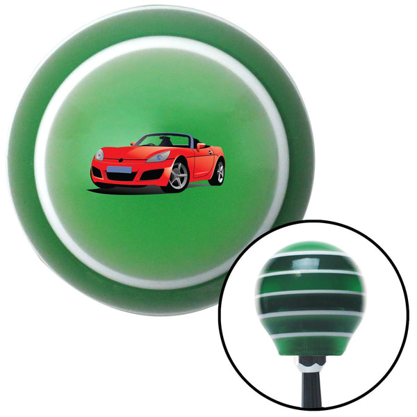 Red Convertible Green Stripe Shift Knob with M16 x 15 Insert - American Shifter - Dropship Direct Wholesale