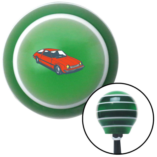 Hatchback Red Green Stripe Shift Knob with M16 x 15 Insert - American Shifter - Dropship Direct Wholesale