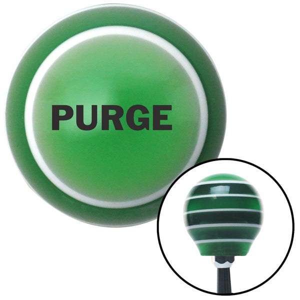 Black PURGE Green Stripe Shift Knob with M16 x 15 Insert - American Shifter - Dropship Direct Wholesale