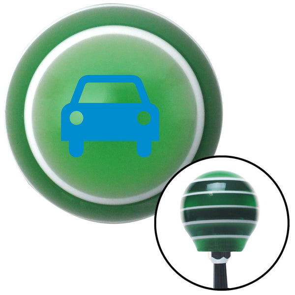 Blue Car Green Stripe Shift Knob with M16 x 15 Insert - American Shifter - Dropship Direct Wholesale