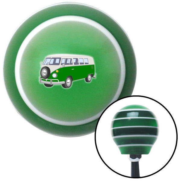 Green Camper Green Stripe Shift Knob with M16 x 15 Insert - American Shifter - Dropship Direct Wholesale