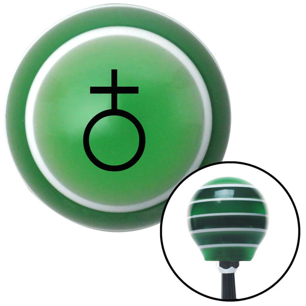 Black Earth Green Stripe Shift Knob with M16 x 15 Insert - American Shifter - Dropship Direct Wholesale