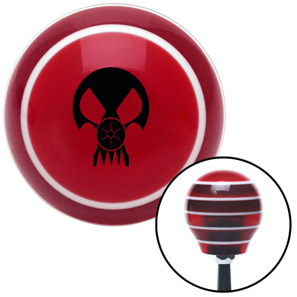 Black Skull Gas Mask Red Stripe Shift Knob with M16 x 15 Insert - American Shifter - Dropship Direct Wholesale
