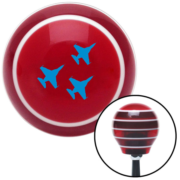 Blue Jet Formation Red Stripe Shift Knob with M16 x 15 Insert - American Shifter - Dropship Direct Wholesale