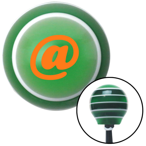 Orange  Symbol Green Stripe Shift Knob with M16 x 15 Insert - American Shifter - Dropship Direct Wholesale