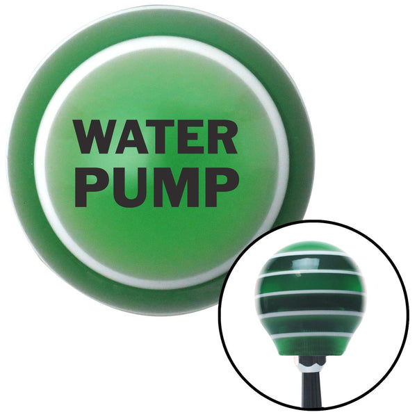 Black WATER PUMP Green Stripe Shift Knob with M16 x 15 Insert - American Shifter - Dropship Direct Wholesale