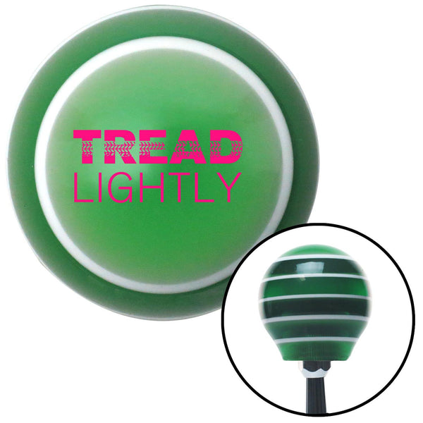 Pink Tread Lightly Green Stripe Shift Knob with M16 x 15 Insert - American Shifter - Dropship Direct Wholesale