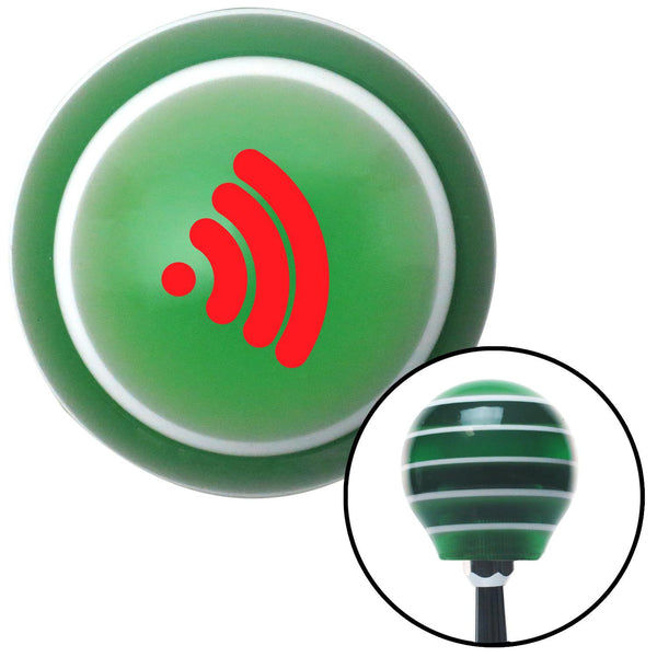 Red Wireless Green Stripe Shift Knob with M16 x 15 Insert - American Shifter - Dropship Direct Wholesale