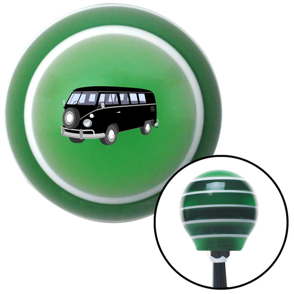 Black Camper Green Stripe Shift Knob with M16 x 15 Insert - American Shifter - Dropship Direct Wholesale