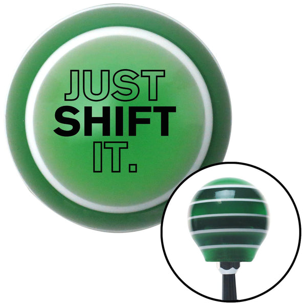 Black Just Shift It Green Stripe Shift Knob with M16 x 15 Insert - American Shifter - Dropship Direct Wholesale