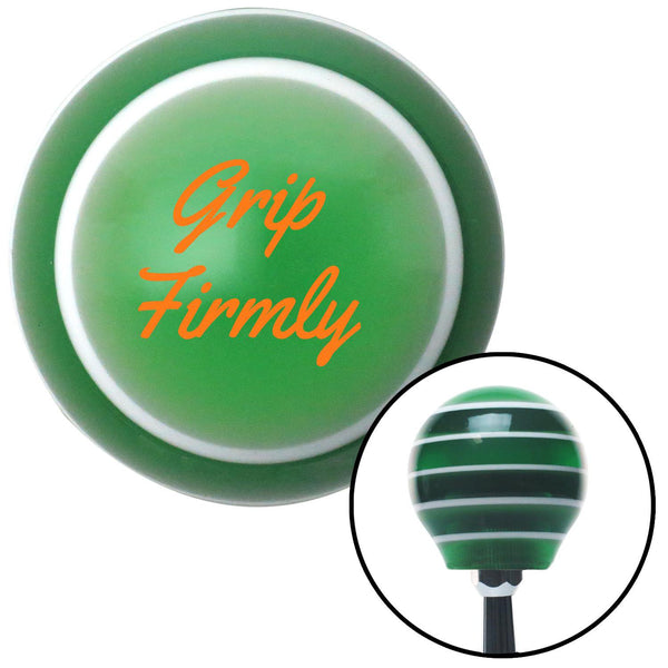 Orange Grip Firmly Green Stripe Shift Knob with M16 x 15 Insert - American Shifter - Dropship Direct Wholesale