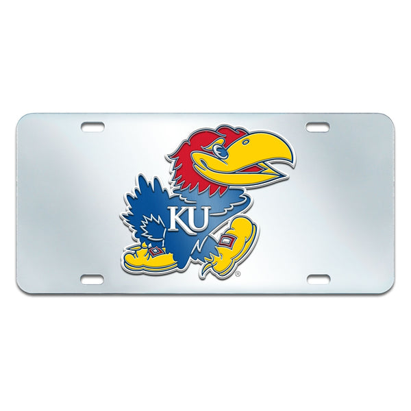 University of Kansas License Plate Inlaid 6x12 - FANMATS - Dropship Direct Wholesale
