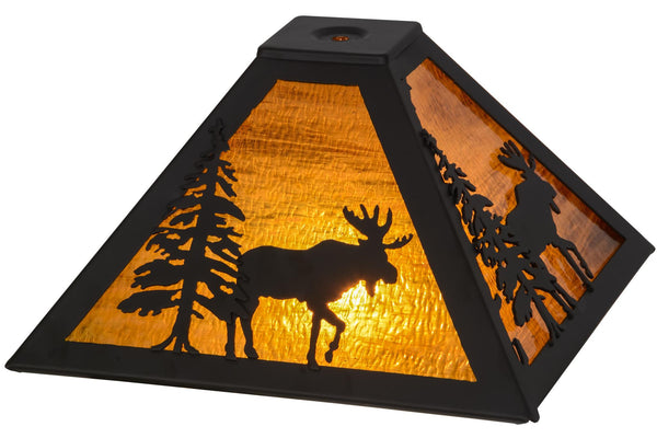 11.5 Inch Sq Lone Moose Shade - Meyda - Dropship Direct Wholesale