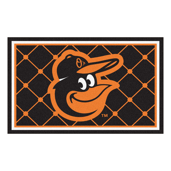 Baltimore Orioles Cartoon Bird Rug 4x6 - FANMATS - Dropship Direct Wholesale