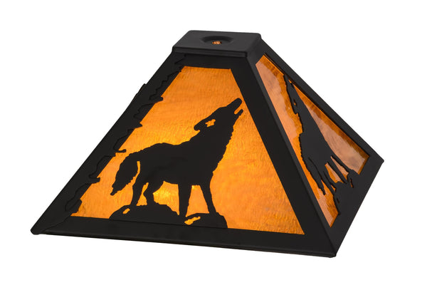 11.5 Inch Sq Howling Wolf Shade - Meyda - Dropship Direct Wholesale