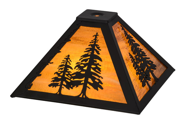 11.5 Inch Sq Tall Pine Shade - Meyda - Dropship Direct Wholesale