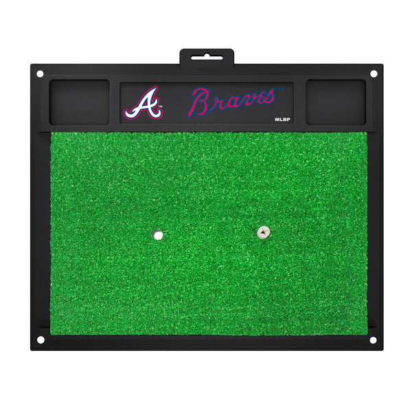 "MLB - Atlanta Braves Golf Hitting Mat 20"" x 17"" - FANMATS - Dropship Direct Wholesale"