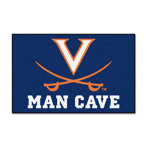 University of Virginia Man Cave Starter Rug 19x30 - FANMATS - Dropship Direct Wholesale