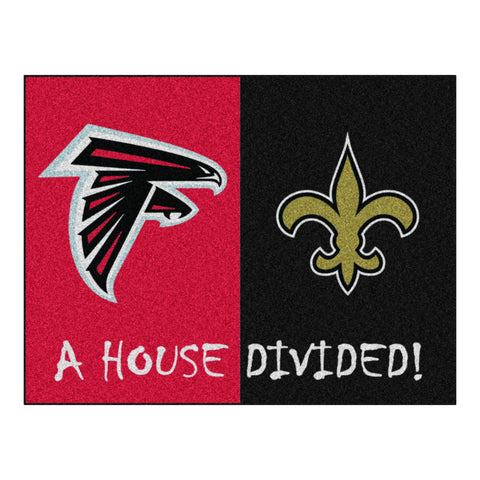 Atlanta Falcons - New Orleans Saints NFL House Divided Rugs 33.75x42.5 - FANMATS - Dropship Direct Wholesale