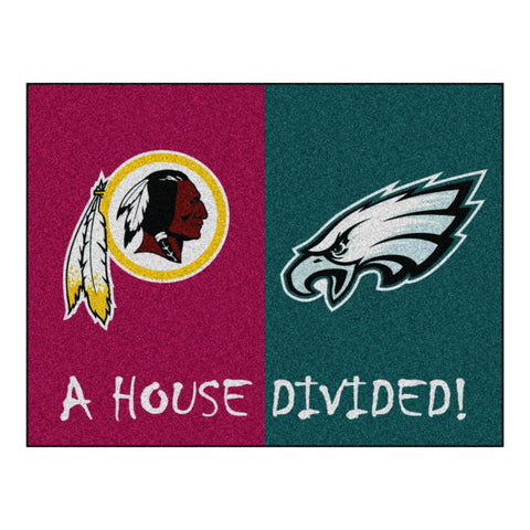 Washington Redskins - Philadelphia Eagles NFL House Divided Rugs 33.75x42.5 - FANMATS - Dropship Direct Wholesale