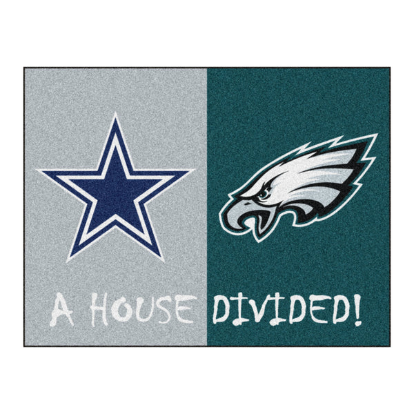 Dallas Cowboys - Philadelphia Eagles NFL House Divided Rugs 33.75x42.5 - FANMATS - Dropship Direct Wholesale
