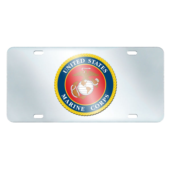 Marines Licensed License Plate Inlaid 6x12 - FANMATS - Dropship Direct Wholesale