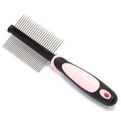 Iconic Pet - Double Sided Pin Comb - Pink - Iconic Pet - Dropship Direct Wholesale