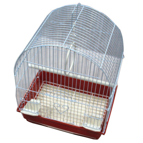 Iconic Pet Dome Top Bird Cage - Small - Red - Iconic Pet - Dropship Direct Wholesale
