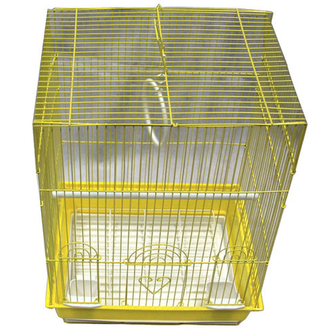 Iconic Pet - Flat Top Bird Cage - Small - Yellow - Iconic Pet - Dropship Direct Wholesale