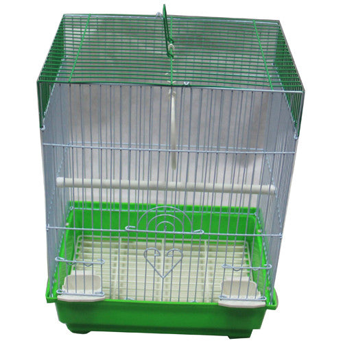 Iconic Pet - Flat Top Bird Cage - Small - Green - Iconic Pet - Dropship Direct Wholesale