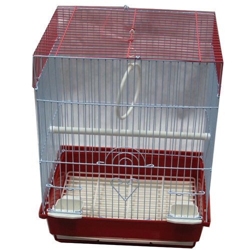 Iconic Pet - Flat Top Bird Cage - Small - Red - Iconic Pet - Dropship Direct Wholesale