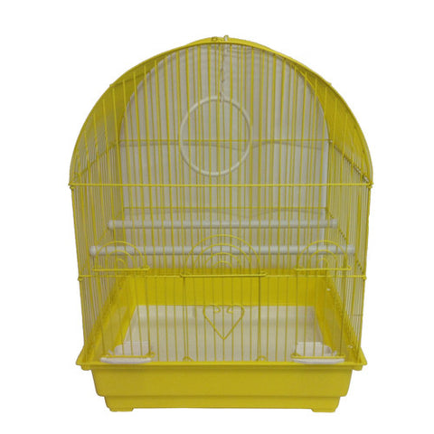 Iconic Pet Dome Top Bird Cage - Medium - Yellow - Iconic Pet - Dropship Direct Wholesale